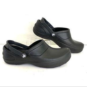 Crocs Clogs Black Nursing Chef SlipOn Shoe 8